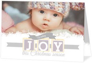 Baby Blocks Joy Christmas Card