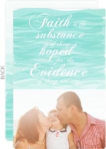 Faith and Hope Christmas Photo Card