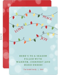 Joyful Holiday Light Christmas Card