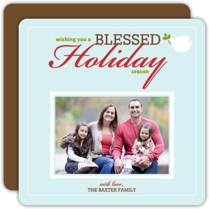 Blessed Holiday Christmas Photo Card