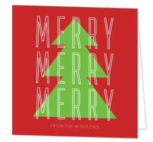 Christmas Ribbon Christmas Card