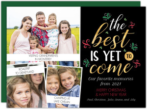 The Best Is Yet To Come Year in Review Card