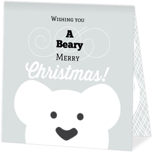 Polar Bear Merry Christmas Photo Card
