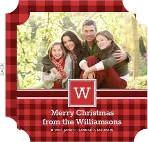Monogram Christmas Card