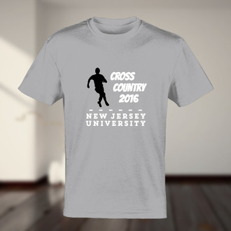 Cross Country Running Figure Tshirt