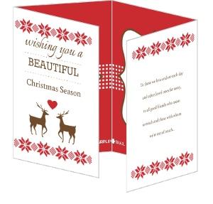 Rustic Reindeer Quadfold Card