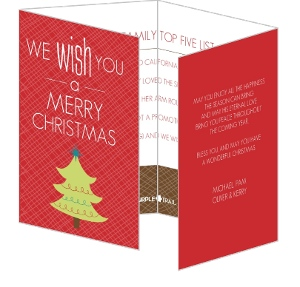 Christmas Tree Quadfold Christmas Card