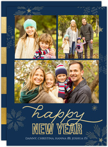 Firework Sparkles Christmas Photo Card