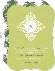 Lace Monogram Christmas Card