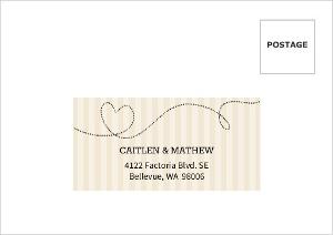 Cream And Black United States Map Mailing Address Envelope