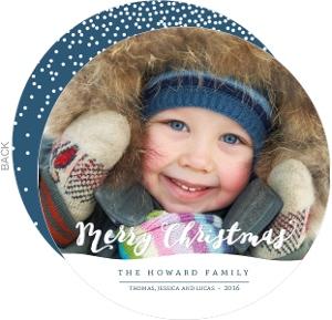 Whimsical Snow Ball Christmas Photo Card