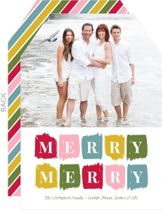Colorful Painterly Strokes Christmas Photo Card