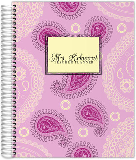 Pink Pasley Pattern Teacher Planner