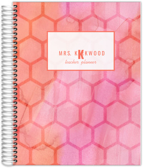 Watercolor Geometric Pattern Teacher Planner