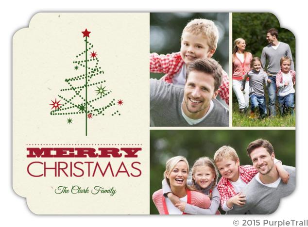 Dainty Tree Christmas Photo Card