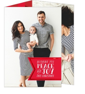 Peace and Joy Banner Christmas Photo Card