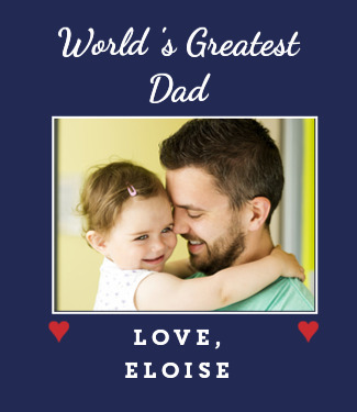 Worlds Greatest Dad Photo Custom Tshirt