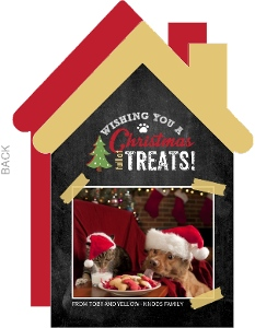 Christmas Full of Treats Pet Photo Card