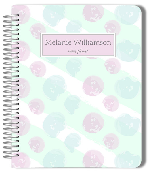 Soft pastel paint daubs etsy planner mom planners for Paint planner