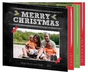 Christmas Blackboard Christmas Photo Card