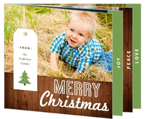 Rustic Charm Christmas Photo Cards