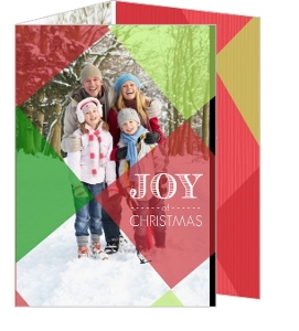 Green Red Checkers Christmas Photo Card
