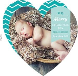 Happy Holidays Heart Christmas Photo Card