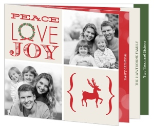 Classic Photo Grid Booklet Christmas Card