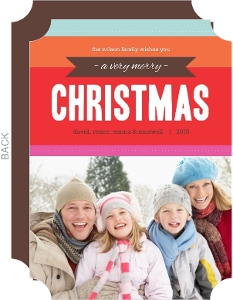Bright Modern Christmas Photo Card