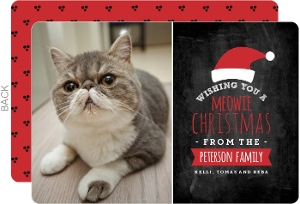 Meowie Christmas Cat Holiday Photo Card
