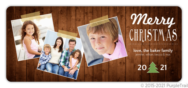 Rustic Christmas Tree Christmas Card