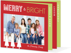 Merry and Bright Christmas Booklet Card