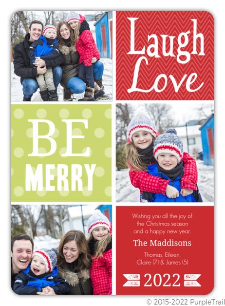 Cheerful Sentiments Christmas Photo Card
