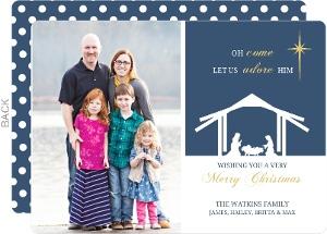 Nativity Scene  Christmas Photo Card