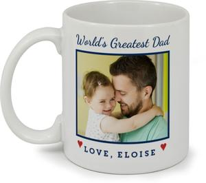 Worlds Greatest Dad Photo Custom Mug