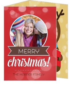 Fun Tri Fold Christmas Photo Card
