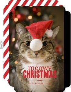 Cat Meowy Christmas Photo Card
