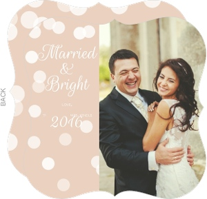 Married and Bright Christmas Photo Card