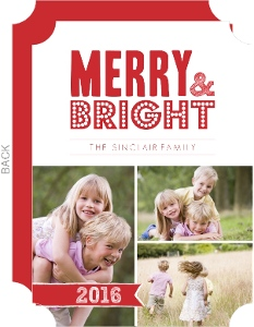 Red and White Christmas Photo Card