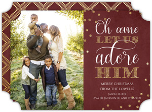 Let Us Adore Him Christmas Photo Card