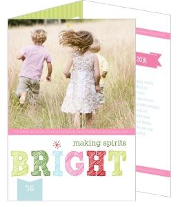 Bright Cheerful Christmas Photo Card