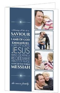 Celebrating Him Christmas Photo Card