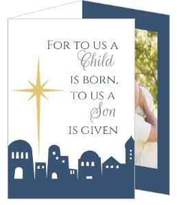 Bethlehem Christmas Photo Card