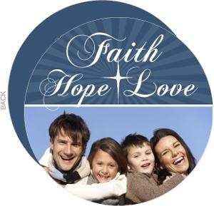 Faith Hope Love Christmas Photo Card
