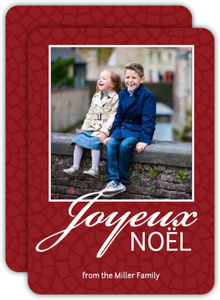 Red Noel Christmas Photo Card