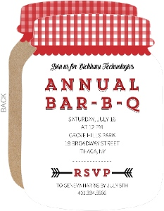 Bar-B-Q Corporate Event Invitation