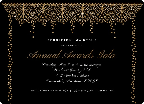 Formal Glam Corporate Event Invitation | Business Event Invitations
