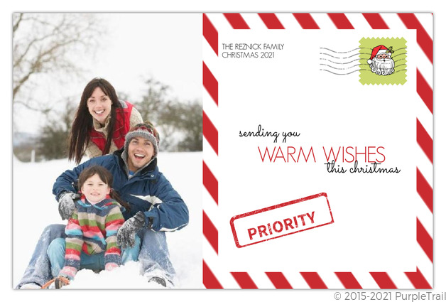 Candy Cane Stripes  Christmas Photo Card