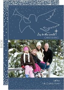 Navy Heralding Angel Christmas Photo Card