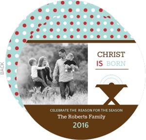 Christ is Born Christmas Photo Card